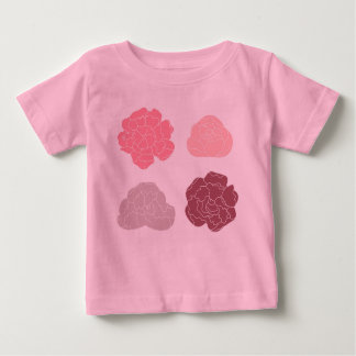 Baby girl designers t-shirt with Roses