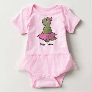 96925e444 Baby Girl Dinosaur Miss T-Rex Bodysuit Tutu