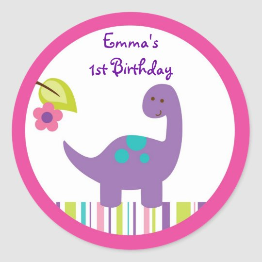 Baby Girl Dinosaur Stickers
