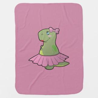 Baby Girl Dinosaur T-Rex Blanket Swaddle Blanket