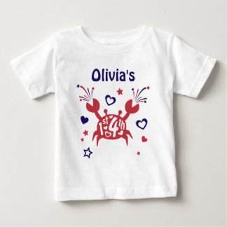 Baby Girl First 4th of July Shirt My 1st 4th