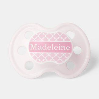 Baby Girl First Name | Pink Patterned Pacifier