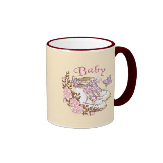 Baby Girl First Shoes Mugs