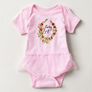 Baby Girl Floral Wreath Baby Bodysuit