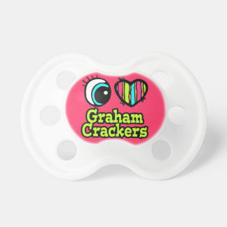 baby girl i love eye heart graham crackers pacifier