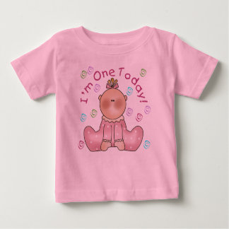 Baby Girl I'm One Today Baby T-Shirt