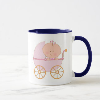 Baby Girl in Carriage Mug