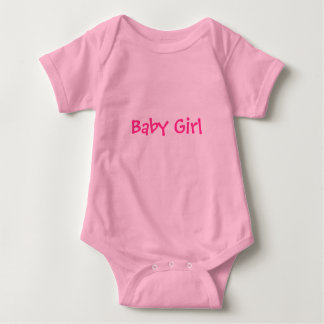 Baby Girl in Pink Baby Bodysuit