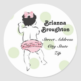 Baby Girl in Ruffled Panties Address Label