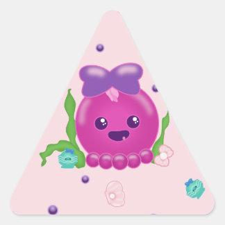 Baby Girl Kawaii Octopus Triangle Sticker