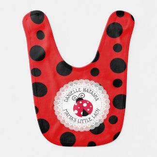 Baby Girl Ladybug Personalized Bib