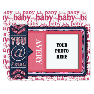 Baby Girl Monthly Photo JOURNAL CARD
