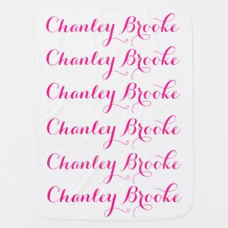 Baby Girl Name Blanket Stroller Blanket