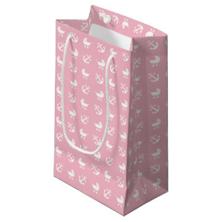 Baby girl nautical pattern small gift bag