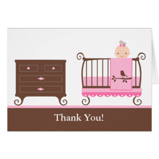 Baby Girl Nursery Card