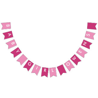 Baby Girl Owens Pink and White Banner