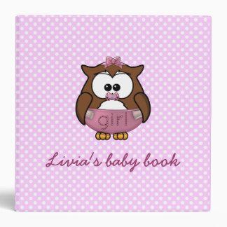 baby girl owl binder