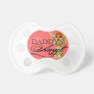 Baby Girl Pacifier Script Mommy's Angel Swirls
