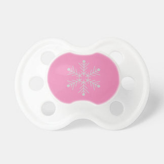 Baby girl pacifier with a snowflake design
