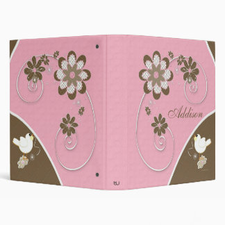 Baby Girl Photo Album in Pink and Brown Binders