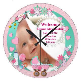 Baby Girl Photo Clock # 2