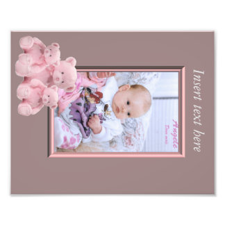 Baby Girl Photo frame insert