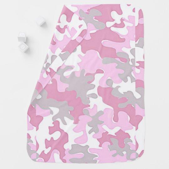 Baby Girl Pink Camouflage Swaddle Blanket