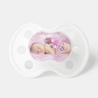 Baby girl pink clouds fantasy pacifier