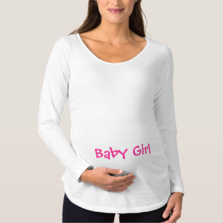 Baby Girl Pink on Maternity T-Shirt