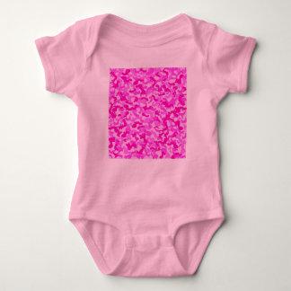 Baby Girl Pink & White Camo Body Suit Baby Bodysuit