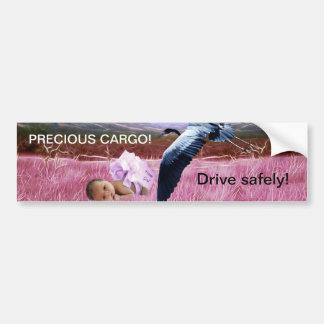 Baby Girl precious cargo Bumper Sticker