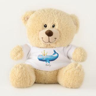 Baby Girl Princess Whale Ocean Animal Name Nursery Teddy Bear