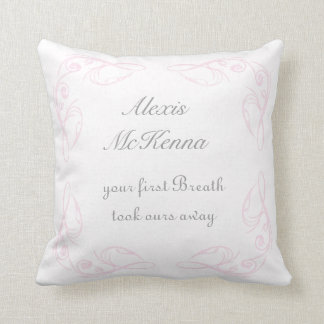 Baby Girl Quote Keepsake Throw Pillow