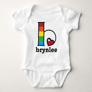 Baby Girl Rainbow Bodysuit Rainbow Party Letter b