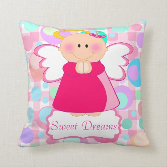 BABY GIRL ROOM,baby girl,baby shower gift,pink Throw Pillow