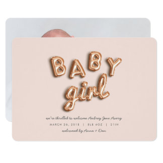 BABY girl! Rose gold/PINK Card