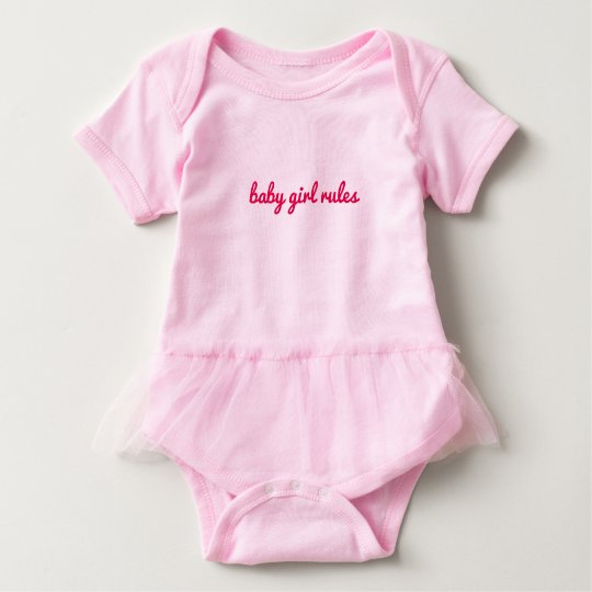 Baby girl rules baby bodysuit