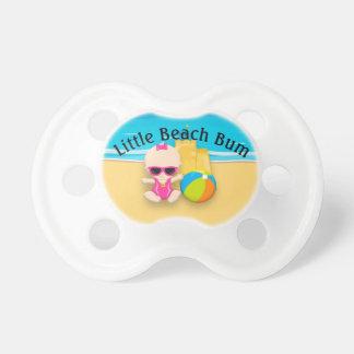 Baby Girl Sand Castle and Beach Ball Beach Bum Pacifier