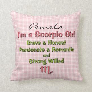 Baby Girl Scorpio Zodiac Personalized Pillow