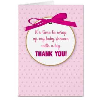 Baby Girl Shower Gift Thank You for Presents Card