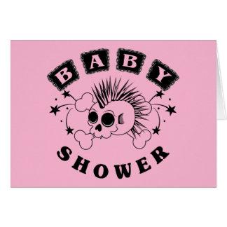 Baby Girl Skull Card