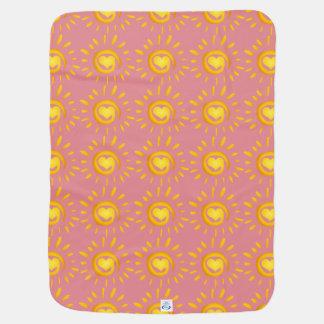 Baby Girl Sunshine Love Swaddle Blankets
