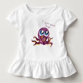 Baby Girl Top Cute Octopus Hugs