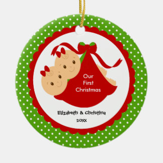 Baby Girl Twins Baby s First Christmas Ornament
