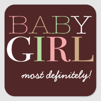 Baby Girl Vote Sticker for Gender Reveal Party