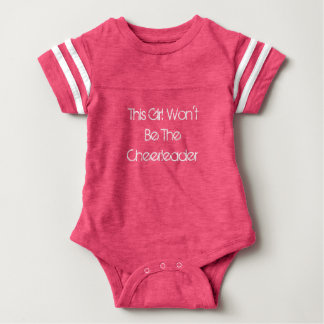 Baby Girl Won't Be Cheerleader Jersey Bodysuit