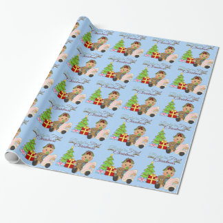 Baby Girl's 1st Christmas Wrapping Paper
