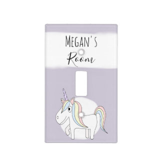 Baby Girl's Doodle Whimsical Unicorn Nursery Light Switch Cover