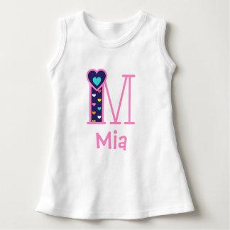 Baby Girls Heart Dress Girls Monogram Letter m