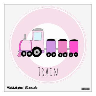 Baby Girl's Pink Locomotive Train Nursery Wall Decal